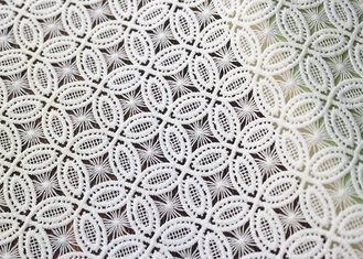 Couture Bridal Heavy African Cord Guipure Embroidered Lace Fabric For Women Dress OEM / ODM