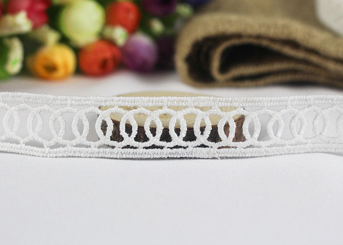 Milk Fiber Embroidery Water Soluble Thin Lace Ribbon For Cloth Chemical Circle Design